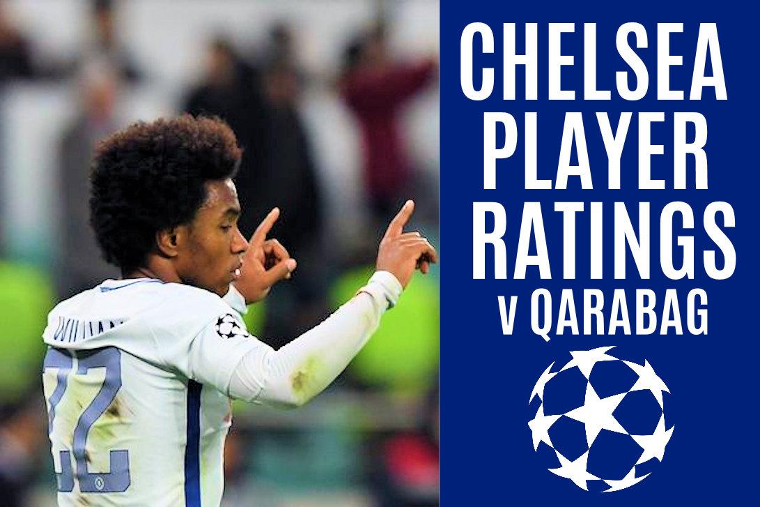 Chelsea player ratings vs Qarabag - Chelsea FC Latest News 2017-11-23 05:25