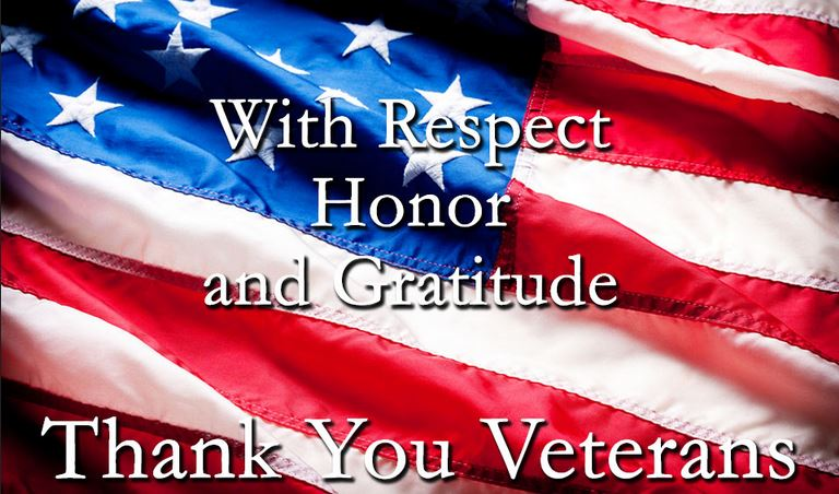 Respect Honor Gratitude Thank You Veterans