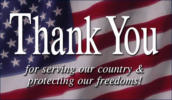 With respect, honor and gratitude, thank you veterans!
