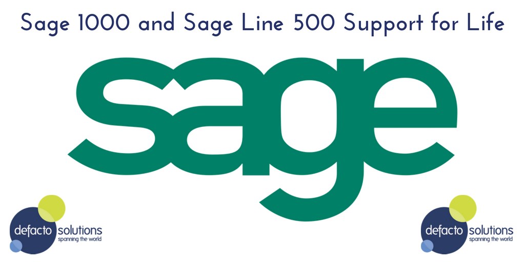 Sage 1000 and Sage Line 500 Support for Life