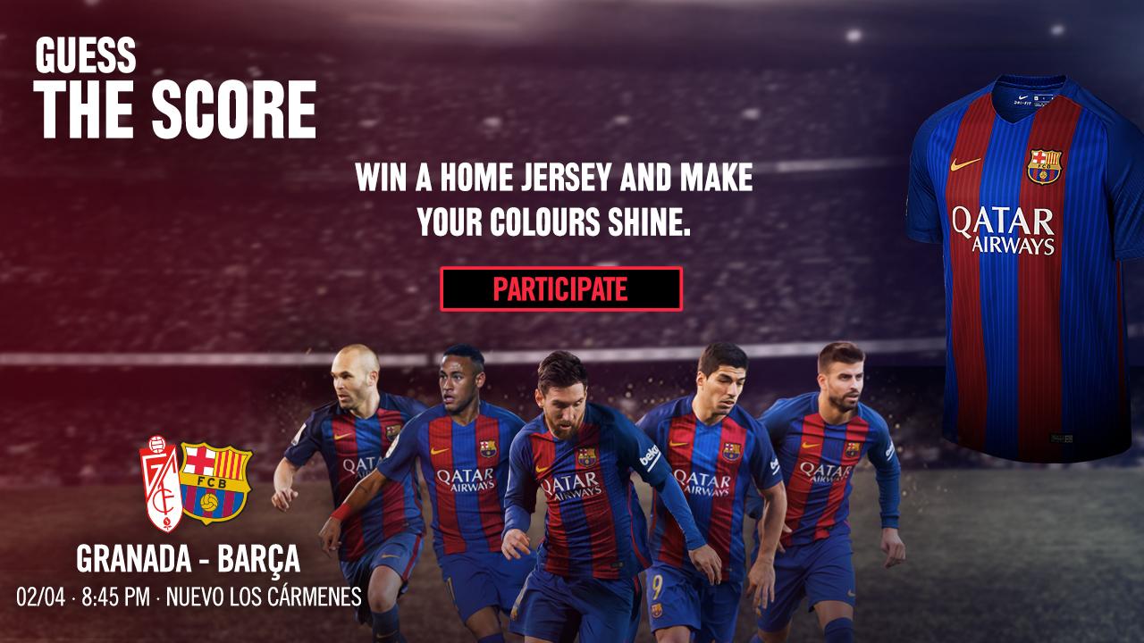 FCBarcelona Guess the score