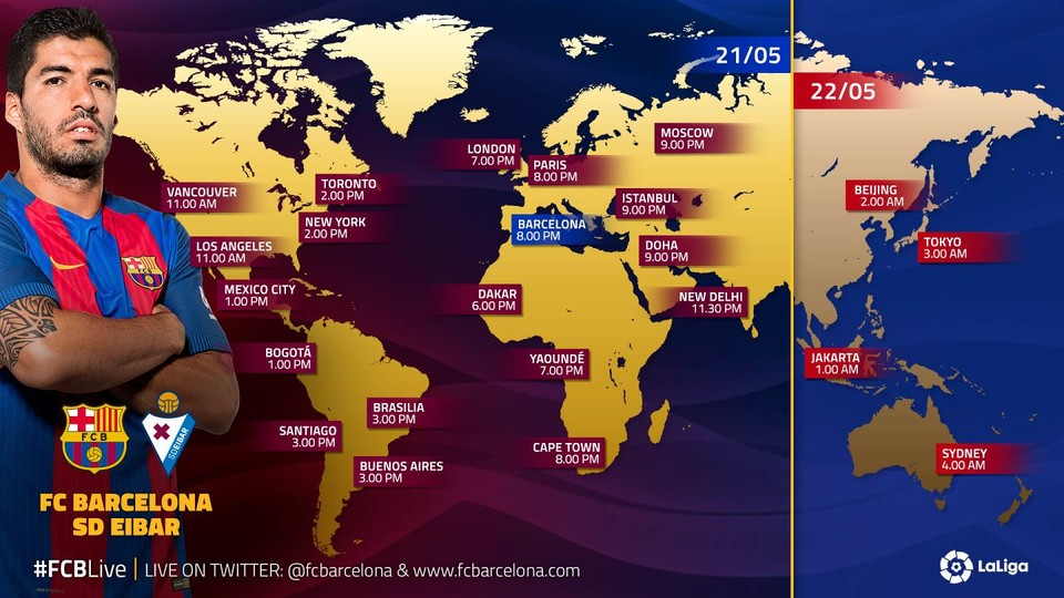 TV GUIDE - FC BARCELONA vs EIBAR
