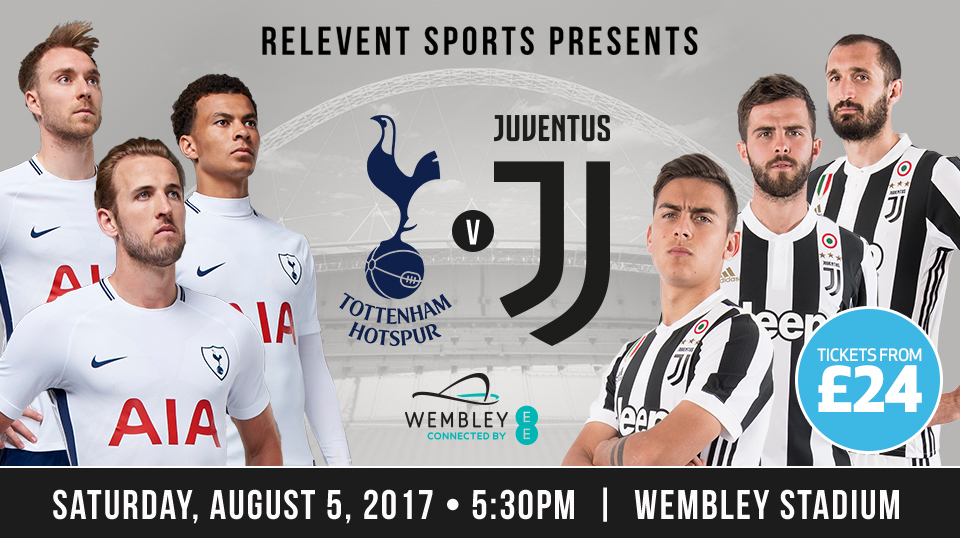 TICKETS: Spurs v Juventus at Wembley!